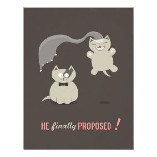 Funny Cartoon Cats - Save the Date invitation