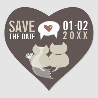 Funny Cartoon Cats Save the Date Wedding stickers