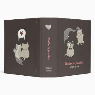 Funny Cartoon Cats - wedding planner binder