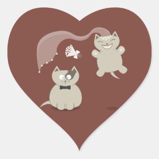 Funny Cartoon Cats Wedding stickers