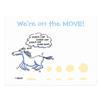 Funny Cartoon Change of Address Postcard