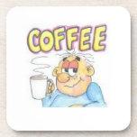 Funny cartoon character on coaster