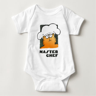 Funny Cartoon Chef | Funny Cooking Chef Baby Bodysuit
