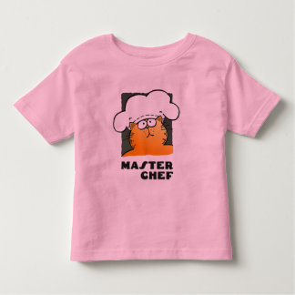 Funny Cartoon Chef | Funny Cooking Chef Toddler T-shirt