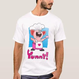 Funny Cartoon Chef T Shirt | Funny Pig Chef Tshirt