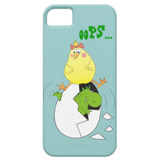 Funny Cartoon Chicken and Dino iPhone 5 Case