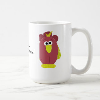 Funny Cartoon Chicken with Saying Coffee Mug