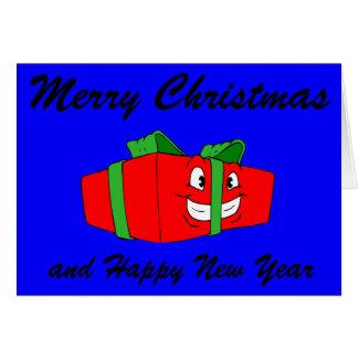 Funny Cartoon Christmas Present Gift Card
