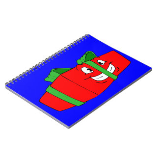 Funny Cartoon Christmas Present Gift Spiral Notebook