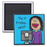 Funny Cartoon Clerical Office Humor 2 Inch Square Magnet