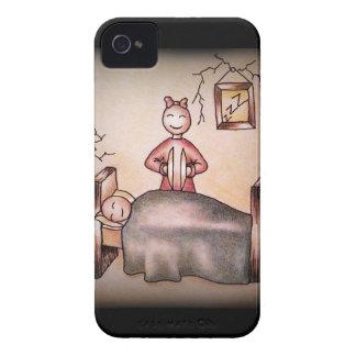 Funny Cartoon Couple Girl Cymbals Boy Sleeping iPhone 4 Covers