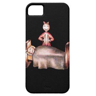 Funny Cartoon Couple Girl Cymbals Boy Sleeping iPhone SE/5/5s Case