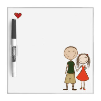 Funny cartoon couple sketch Dry-Erase board
