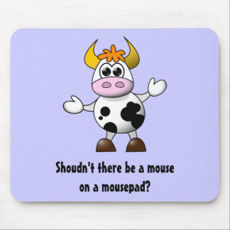 Funny Cartoon Cow Mouse Pad