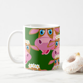 Funny Cartoon Cow Pattern Coffee Mug