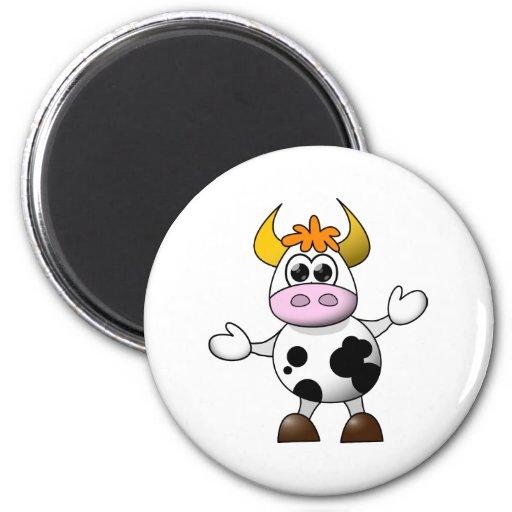 Funny Cartoon Cow Refrigerator Magnets