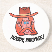 Funny Cartoon Cowboy Coaster