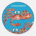 Funny Cartoon Crabs Stickers