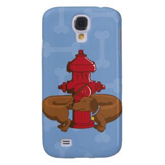 Funny Cartoon Dachshund Samsung Galaxy S4 Cover