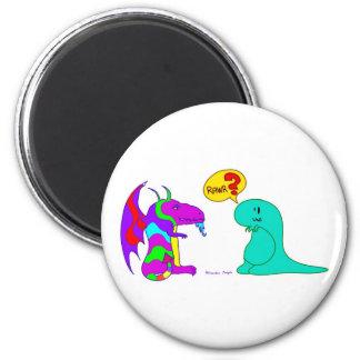 Funny Cartoon Dinos Cute Dinosaur Dragon Rawr? 2 Inch Round Magnet