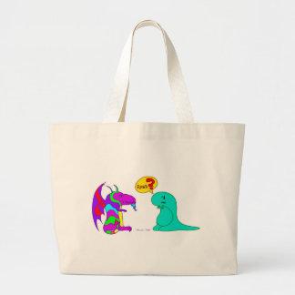 Funny Cartoon Dinos Cute Dinosaur Dragon Rawr? Bags