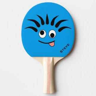 Funny Cartoon Dizzy Face Custom Ping Pong Paddle