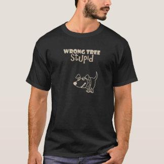 Funny Cartoon Dog Barking up the Wrong Tree T-Shirt
