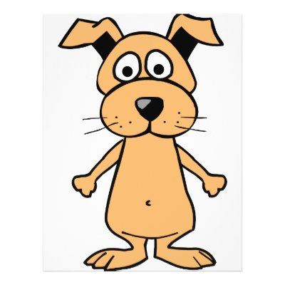 White Cartoon Dog With Droopy Eyes
