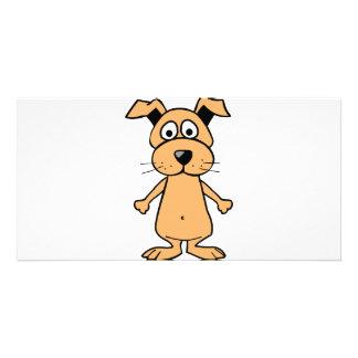 Funny cartoon dog photo card
