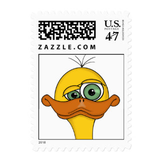 Funny Cartoon Duck Postage