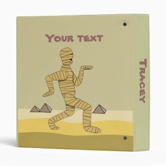 Funny Cartoon Egyptian Mummy Pyramids Custom 3 Ring Binders