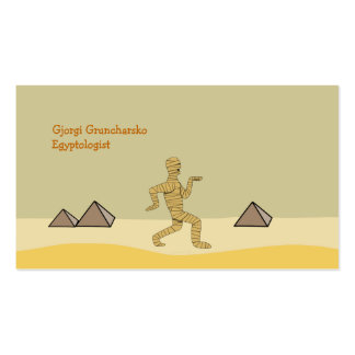 Funny Cartoon Egyptian Mummy Pyramids Custom Double-Sided Standard Business Cards (Pack Of 100)