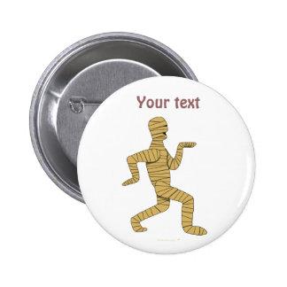 Funny Cartoon Egyptian Mummy Pyramids Custom Pinback Buttons