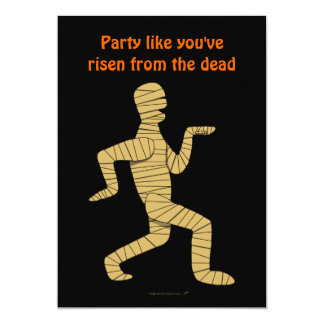 Funny Cartoon Egyptian Mummy Pyramids Custom Card