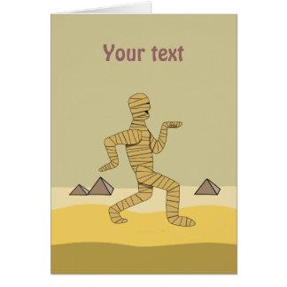 Funny Cartoon Egyptian Mummy Pyramids Custom Cards