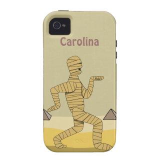 Funny Cartoon Egyptian Mummy Pyramids Custom Case-Mate iPhone 4 Case