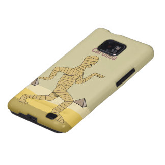 Funny Cartoon Egyptian Mummy Pyramids Custom Galaxy SII Cover