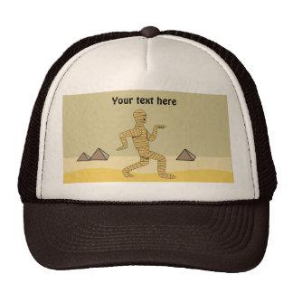 Funny Cartoon Egyptian Mummy Pyramids Custom Trucker Hat