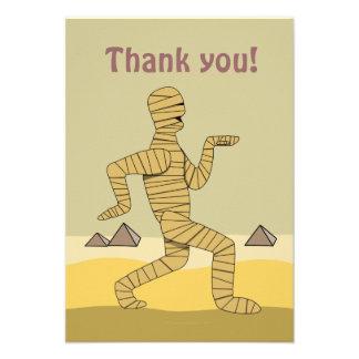 Funny Cartoon Egyptian Mummy Pyramids Custom Personalized Invites