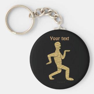 Funny Cartoon Egyptian Mummy Pyramids Custom Keychain