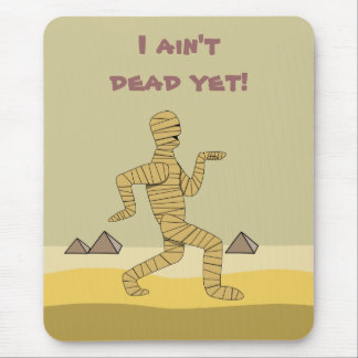 Funny Cartoon Egyptian Mummy Pyramids Custom Mouse Pad