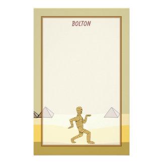 Funny Cartoon Egyptian Mummy Pyramids Custom Custom Stationery