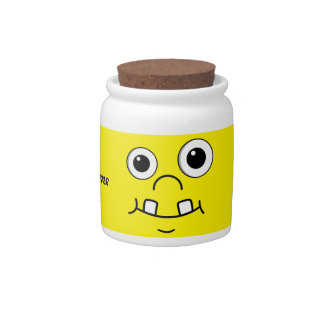 Funny Cartoon face Candy Jar