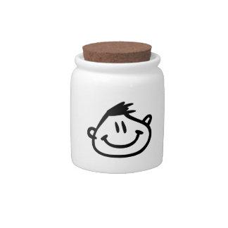 Funny Cartoon Face Candy Jars