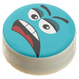Funny cartoon face chocolate covered oreo