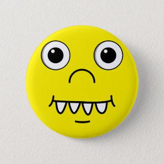 Funny Cartoon face Pinback Button
