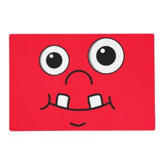 Funny Cartoon face Placemat