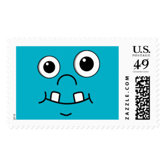 Funny Cartoon face Stamps