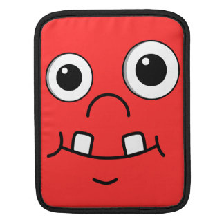 Funny Cartoon face Sleeve For iPads