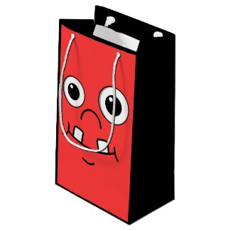 Funny Cartoon face Small Gift Bag